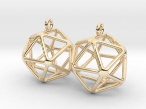 Icosahedron Earring in 14K Yellow Gold