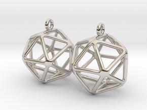 Icosahedron Earring in Platinum