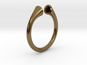 Gramaphonic Ring, US size 8,5 d= 18mm. Place M in Polished Bronze: 8.5 / 58