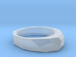 Decagon Faceted Ring 4.5 in Smooth Fine Detail Plastic