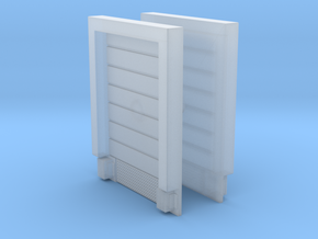2pkg - 8X10 Roll Up Door; Closed - w/Leveler - Sur in Smooth Fine Detail Plastic