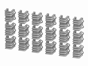 1:20.3 D&RGW 6200 series Flatcar Stake Pockets, 18 in Smooth Fine Detail Plastic