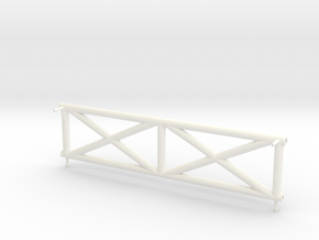 Side Booster Frame in White Processed Versatile Plastic