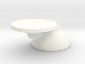 Steam Controller D-Pad for Analog Stick in White Processed Versatile Plastic