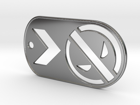 Deadpool Dog Tag in Fine Detail Polished Silver