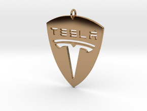 Tesla Pendant in Polished Brass