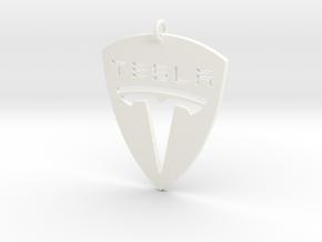 Tesla Pendant in White Processed Versatile Plastic