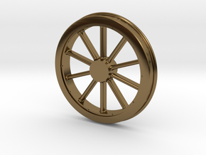McKeen Driver Wheel In O Scale in Polished Bronze