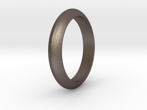 Ø21.87 Functional Design Ring Ø0.861 inch in Polished Bronzed Silver Steel