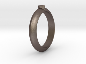 Ø21.87 Design Ring Ø0.861 inch in Polished Bronzed Silver Steel