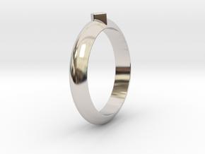 Ø21.87 Design Ring Ø0.861 inch in Rhodium Plated Brass