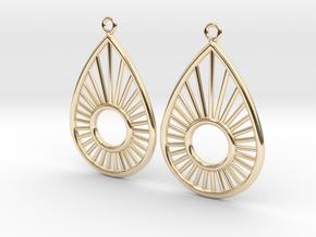 Sunrise Pear - Earrings in 14K Yellow Gold