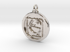 23S – IX ESCAPING DOCTRINE  in Rhodium Plated Brass