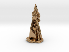Fanstasy Princess with Hennin hat in Polished Brass
