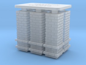 6x PEIR Way Stn Chimney HO in Smooth Fine Detail Plastic
