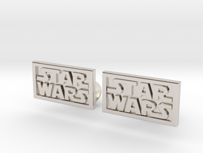 Starwars Cuffliinks in Rhodium Plated Brass
