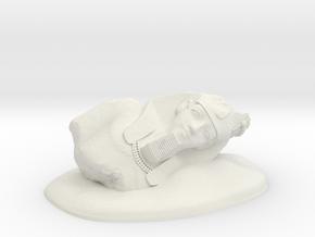 28mm/32mm Younger Memnon/Ramesses II/Ozymandias in White Natural Versatile Plastic