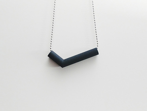 Pipe Pendant N°2 in Black Natural Versatile Plastic