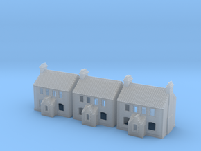 CNS Workers Cottage Set Of 3 - T-Gauge - 1:450 in Smooth Fine Detail Plastic
