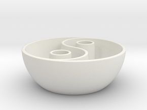 Yin Yang vessel in White Strong & Flexible