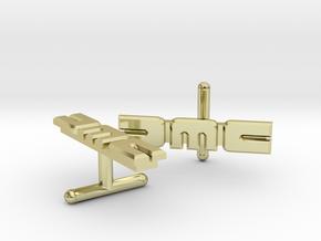 2 X DMC Cufflinks Version 2 in 18k Gold Plated Brass