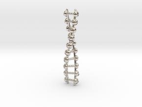 Joyful Code Pendant in Platinum