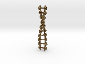 Joyful Code Pendant in Polished Bronze