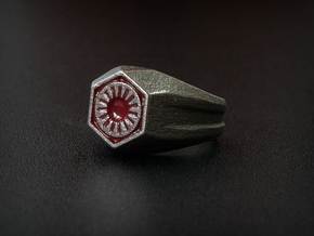 First Order Signet Ring (Size 10 1/4 - 20 mm) in Polished Bronzed Silver Steel