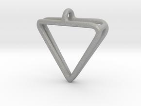 2Triangles Pendant in Aluminum: Medium