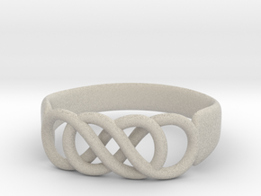 Double Infinity Ring 14.1 mm Size 3 in Natural Sandstone