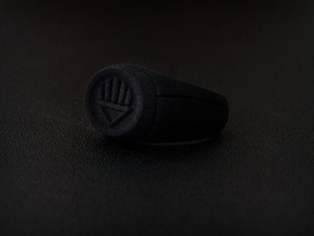 Black Lantern Ring in Black Natural Versatile Plastic