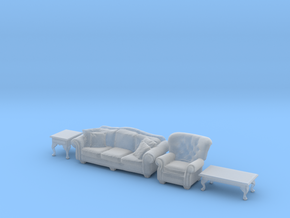 1:35 Living Room Set in Smooth Fine Detail Plastic