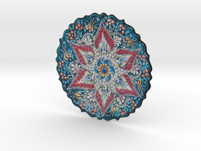 Lace Iznik Cini in Full Color Sandstone