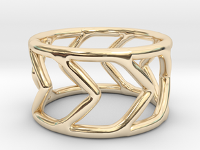 Ring Arrow in 14k Gold Plated Brass