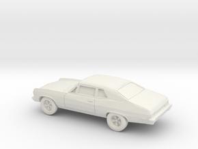1/87 1971-74 Chevrolet Nova in White Natural Versatile Plastic