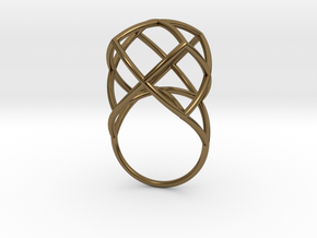 TETRAHEDRON STAR, Ring Nº1 in Polished Bronze