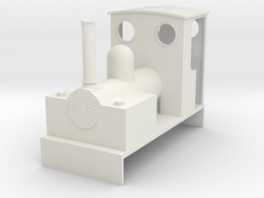 0-16.5 Bagnall 0-4-0 for Dapol Pug in White Natural Versatile Plastic
