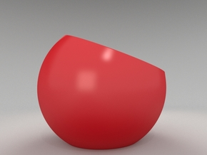 Sinking espresso cup (no handle version) in Gloss Red Porcelain