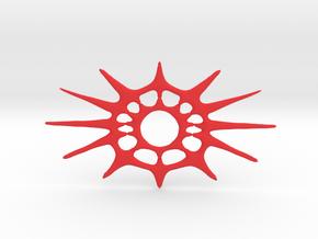 The Best Clock Face in Red Processed Versatile Plastic