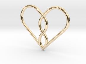 Infinity Heart Pendant Mini in 14k Gold Plated Brass
