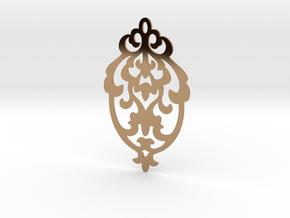 BlakOpal Victorian Damask Earring in Polished Brass