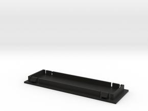 Single Din Blank Plate  in Black Natural Versatile Plastic