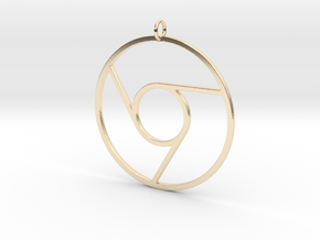 Google Chrome Pendant in 14K Yellow Gold