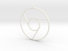 Google Chrome Pendant in White Processed Versatile Plastic