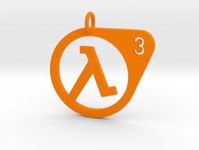 Half Life 3 Confirmed Pendant in Orange Strong & Flexible Polished