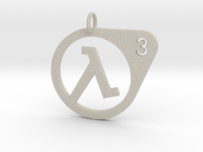 Half Life 3 Confirmed Pendant in Natural Sandstone