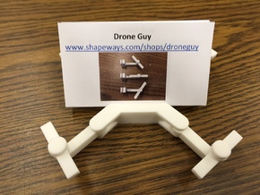 Folding Drone Business Card Holder in White Strong & Flexible Polished