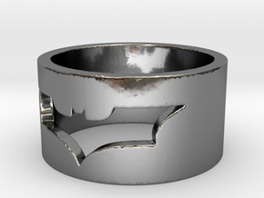 Batman Ring Size 10 in Fine Detail Polished Silver