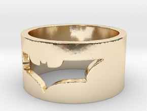 Batman Ring Size 10 in 14k Gold Plated Brass