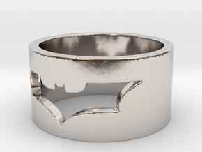 Batman Ring Size 10 in Rhodium Plated Brass